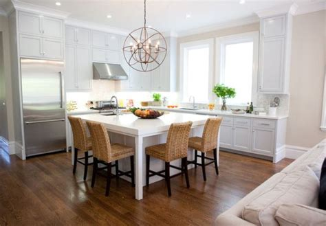 white kitchen island table 30 kitchen islands with tables a simple but very clever combo