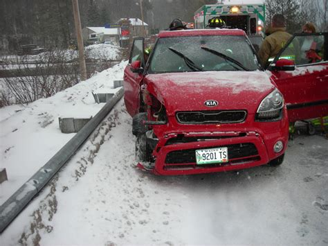 Kia Soul Crash Car S Driver Injured In Acton Crash With Cargo The