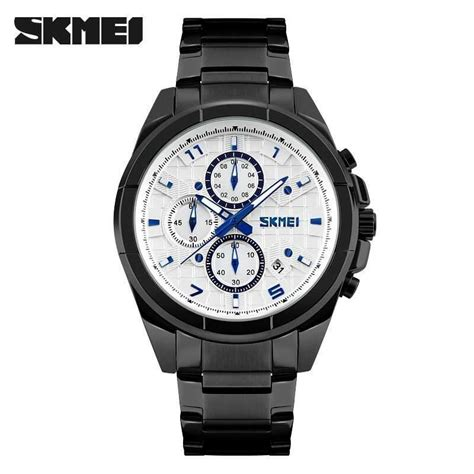 Stock Baru Jam Tangan Pria Casual Original Skmei 9135 Anti Air 30m Bl jual jam tangan pria skmei analog casual stainless original 9109cs