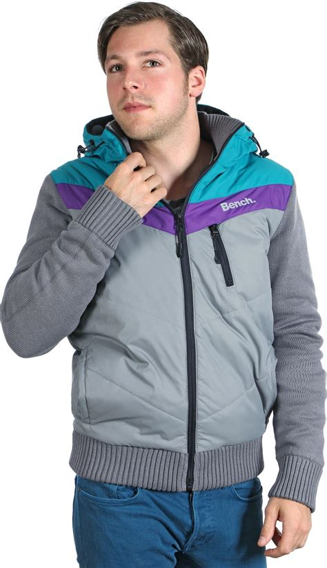 purple bench jacket bench rail jacket grey turquoise purple