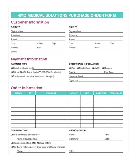 sle blank purchase order form 11 free documents in