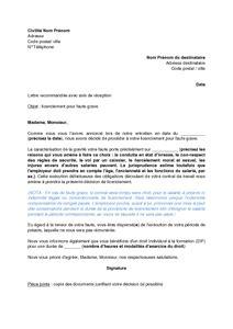 Exemple De Lettre Licenciement économique Sle Cover Letter Modele De Lettre De Licenciement