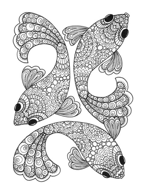 coloring pages fish for adults cindy wilde mindful fish colouring page low res