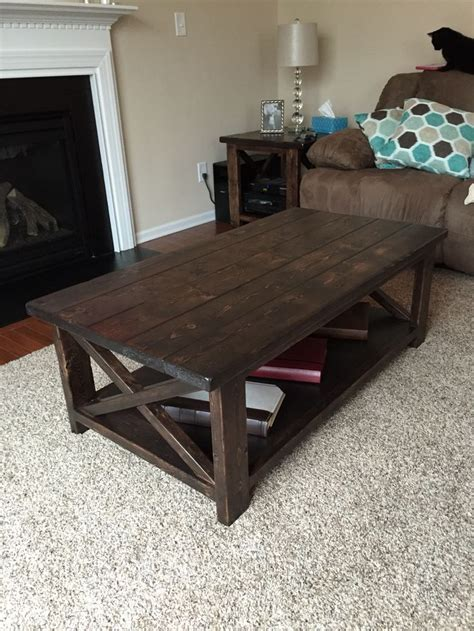 rustic  coffee table stained table rustic coffee