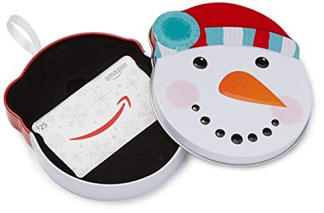 Amazon Gift Card Vendors - amazon com 25 gift card in a snowman tin wavendor newyork