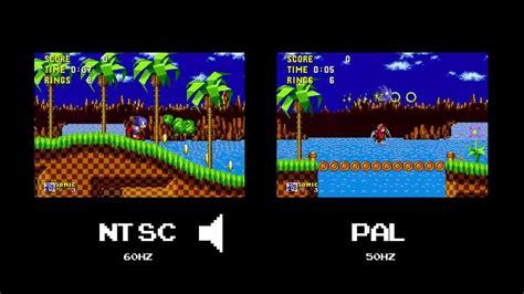 format video pal vs ntsc sonic the hedgehog ntsc y pal youtube