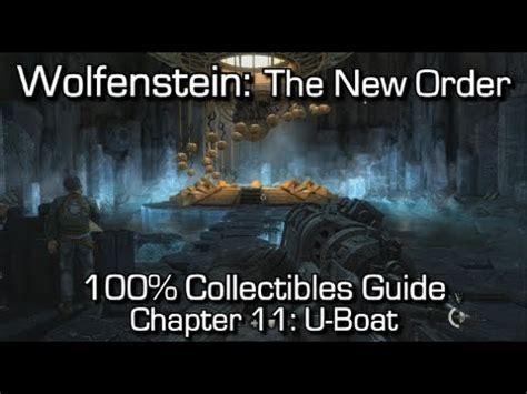 wolfenstein the new order chapter 11 collectibles u - U Boat Gold Wolfenstein