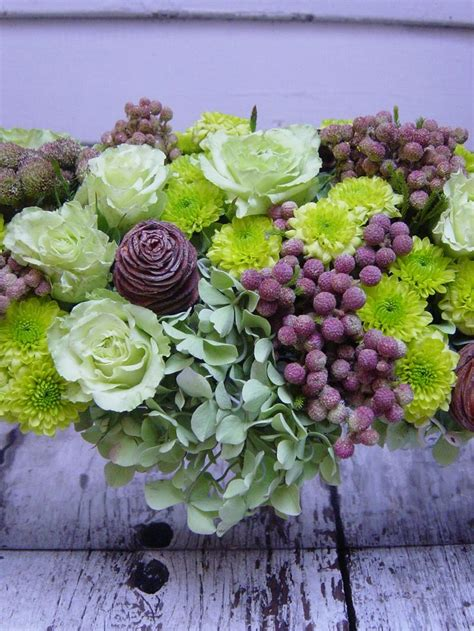 green and purple floral arrangements pinterest