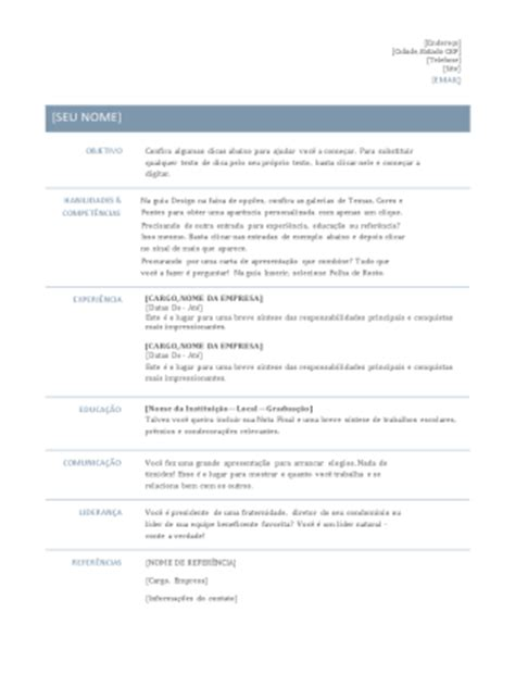 Modelo De Curriculum Vitae Estudio Juridico Modelos E Temas Do Office Brasildoemprego