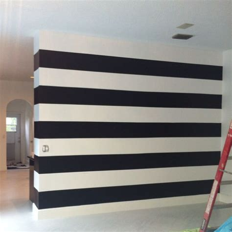 black and white striped wall pin by katie brown on home makeover pinterest