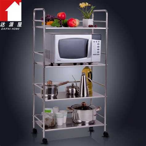 dapai house thick stainless steel kitchen shelf microwave