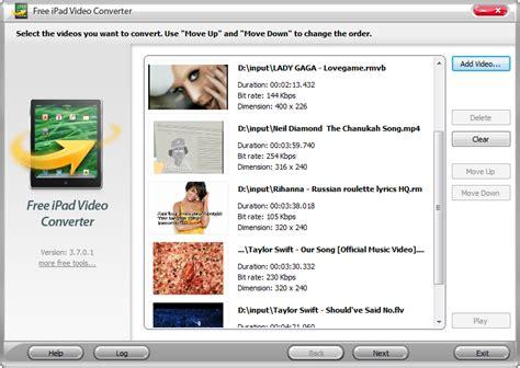 video format converter best free free ipad video converter freeware screenshot convert