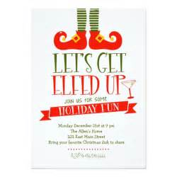 let s get elfed up invitation zazzle