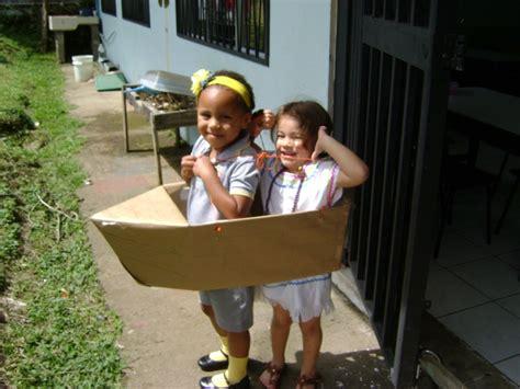 cardboard boat costume boat made with a cardboard box preschool pinterest