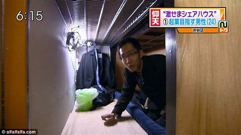 Japanese Living In Closet by Living In A Box The Tiny Coffin Apartments Of Tokyo