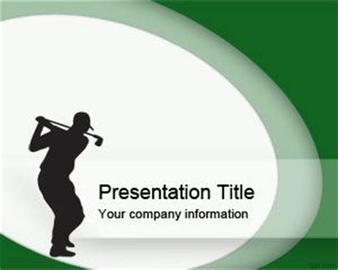 Powerpoint Design Vorlagen Sport Free Golf Club Powerpoint Template