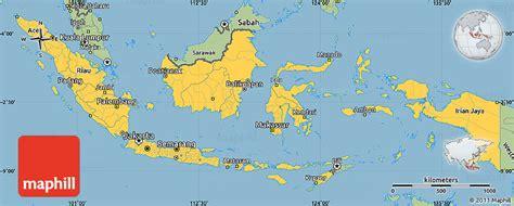savanna style simple map  indonesia