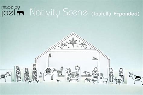 printable paper nativity scene 12 5 13 done that made by joel 187 paper city nativity