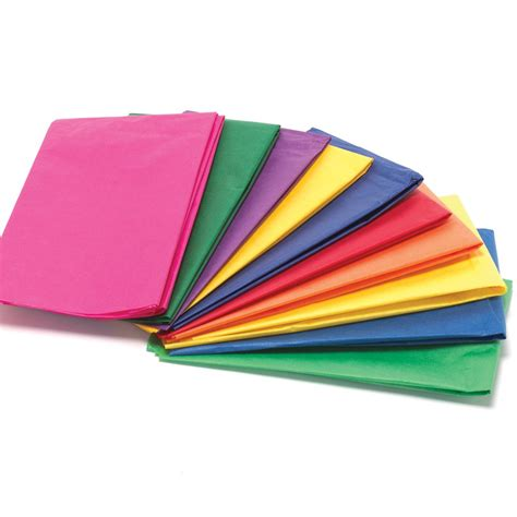 With Tissue Paper - bright colours tissue paper pack 20 sheets collage and