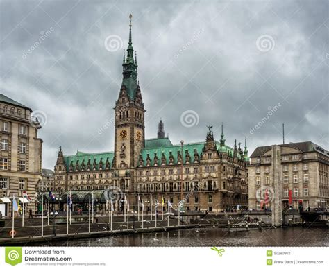 city center hamburg hamburg city center with town and alster river in