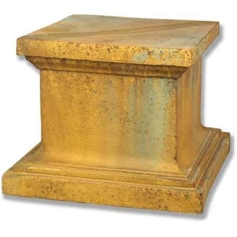 Sculpture Pedestal Base Reed Riser Pedestal Durable Fiberstone Base For Statue