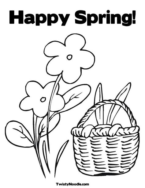 printable spring coloring pages kindergarten coloring home spring color pictures coloring home