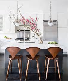 Island Chairs For Kitchen Charcoal Gray Kitchen Island With White Marble Counters