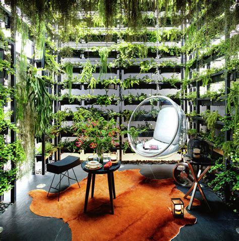 vertical garden apartment connects residents with nature
