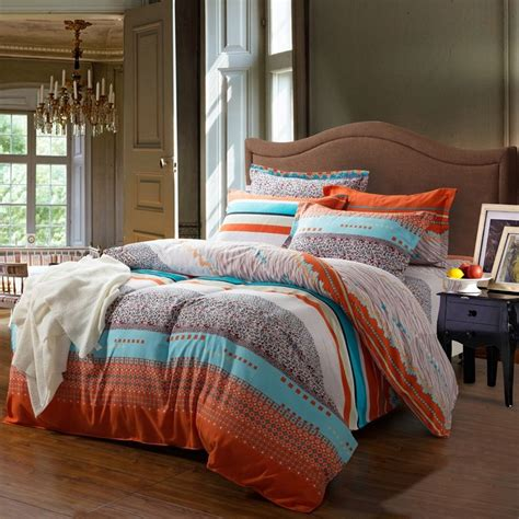 orange and blue comforter sets romantic orange bedding orange and white