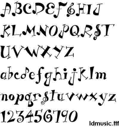 printable music font music fonts
