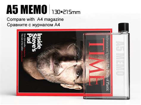Promo Murah New A5 Memobottle Flat Slim Tritan Memobottle Memo Botol this notebook water bottle will fit in your briefcase and smaller bags great deals singapore