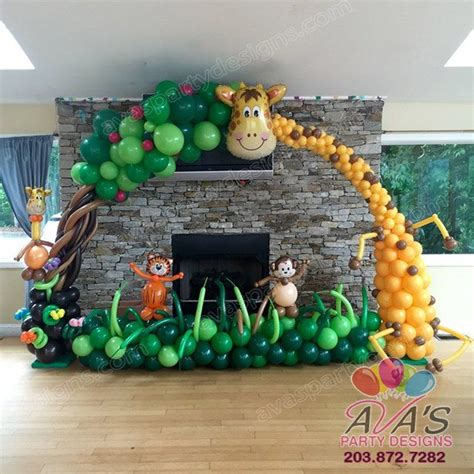 jungle themed decorations 1000 ideas about balloon arch on balloon