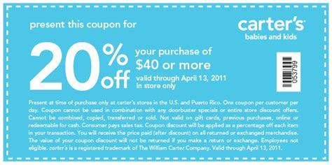 printable coupons for carters outlet y424syno printable coupons canada 2011