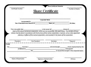 shareholding certificate template stock certificate template 21 free word pdf