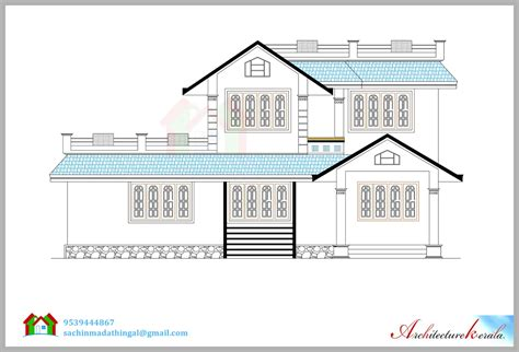 floor plan and elevation of a house architecture kerala beautiful house elevation with its