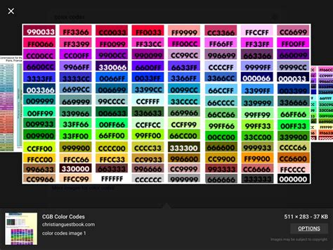 code color color codes