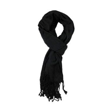Syal Rajut Winter Gunung Pria Dan Wanita jual anekaimportdotcom syal musim dingin scarf winter polos pashmina hitam harga