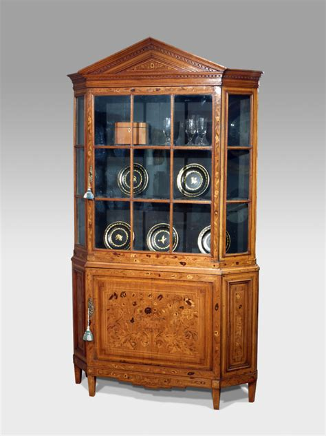 Antique Display Cabinet by Antique Marquetry Display Cabinet Floor Standing Display