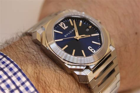 Bulgari Blue pre basel on with the bulgari octo blue time and tide watches