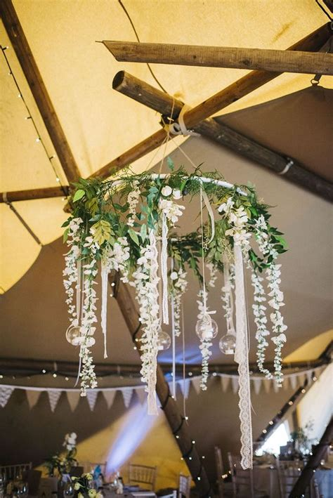 Home Decor Hanging Ceiling 33 Cool Ways To Use Hoops At Your Wedding Weddingomania