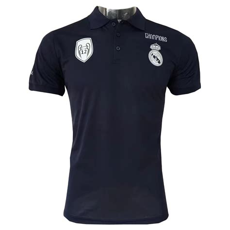 Polo Shirt Real Madrid 8 Oceanseven us 15 8 real madrid polo shirt 12 chions black 2017