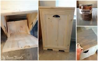 wood tilt out trash can cabinet designs 174