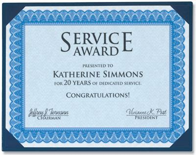 employee anniversary certificate template formal blue standard certificates paperdirect