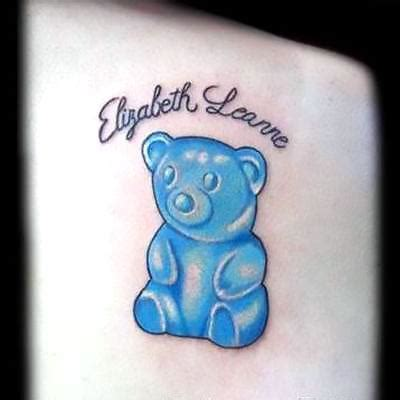 gummy bear tattoo blue gummy idea