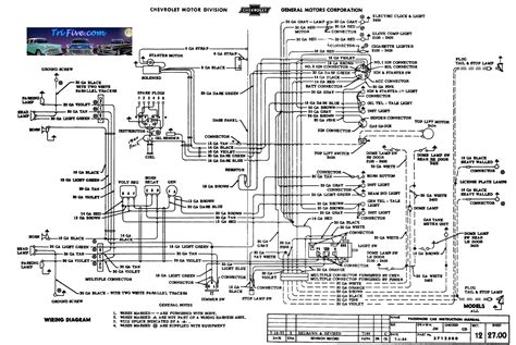 wiring diagrams trifive 1955 chevy 1956 chevy 1957