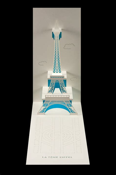 eiffel tower pop up card template eiffel towers towers and pop up on