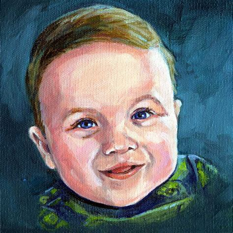 painting for barbies new painting portrait of a baby boy