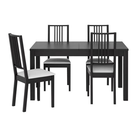 Black Dining Table And 4 Chairs Bjursta B 214 Rje Table And 4 Chairs Ikea