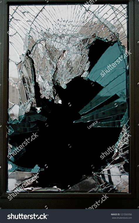 broken glass door images broken glass door shop stock photo 121550356