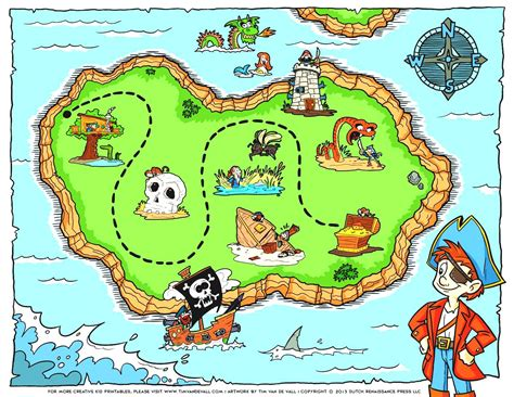 printable treasure maps for kids kidding around